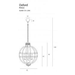 Pakabinamas šviestuvas OXFORD - 4 - 339,30€