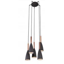 Pakabinamas šviestuvas SOFT 5 juodas - 1 - 346,50€