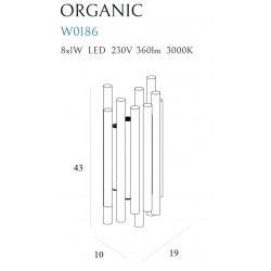 Sieninis šviestuvas ORGANIC CHROM - 3 - 353,94€