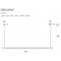 Pakabinamas šviestuvas ORGANIC HORIZON 150CM baltas - 2 - 363,71€