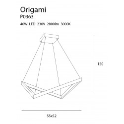 Pakabinamas šviestuvas mažas ORIGAMI - 3 - 363,71€