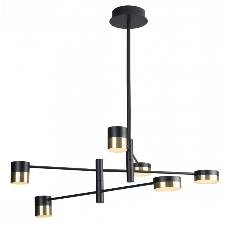 Pakabinamas šviestuvas PUMA LED 6x 7W BK/GD - 1 - 371,85€