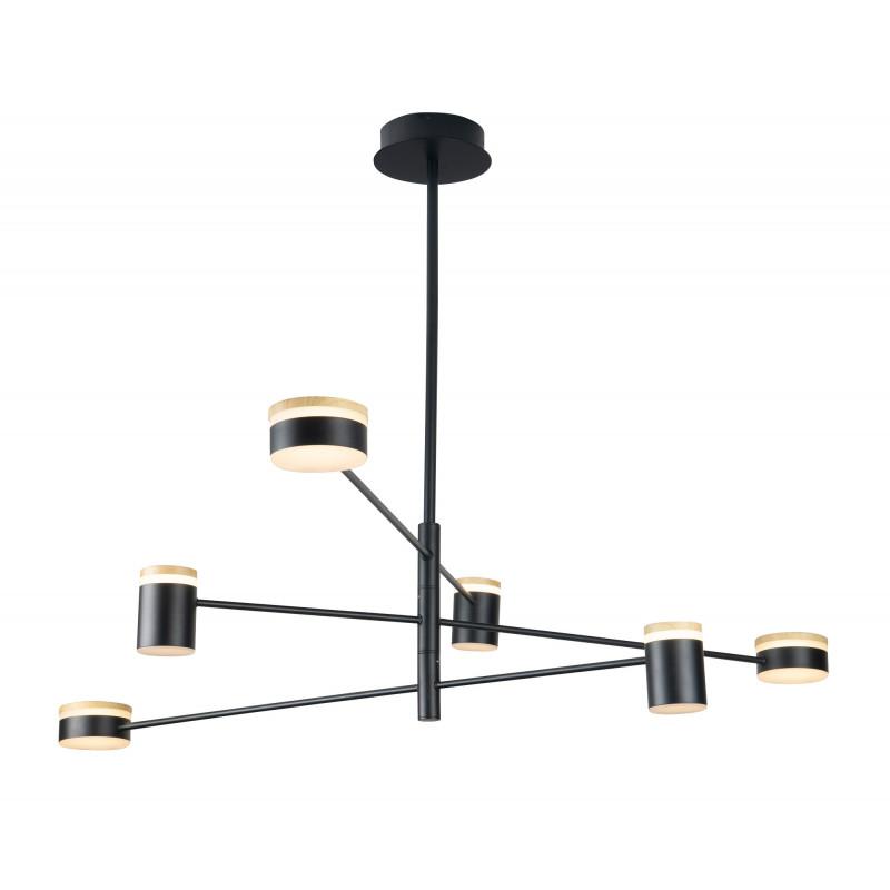 Pakabinamas šviestuvas PUMA LED 6x 7W BK/GD/WD - 1 - 371,85€