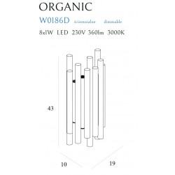 Sieninis šviestuvas ORGANIC CHROM, DIM - 3 - 378,35€