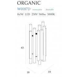 Sieninis šviestuvas ORGANIC GOLD, DIM - 5 - 378,35€