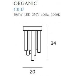 Plafonas ORGANIC CHROM mažas - 2 - 414,17€