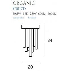 Plafonas ORGANIC CHROM mažas, DIM - 2 - 414,17€