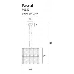 Pakabinamas šviestuvas PASCAL 40 cm - 3 - 583,47€
