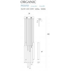 Pakabinamas šviestuvas ORGANIC 10x auksinis mažas, DIM - 6 - 660,67€