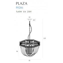 Pakabinamas šviestuvas PLAZA ∅ 52 cm - 4 - 690,68€