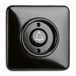 THPG bakelito mygtukas skambučiui su keturkampiu rėmeliu