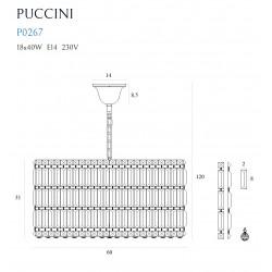 Pakabinamas šviestuvas PUCCINI 60cm - 5 - 823,47€