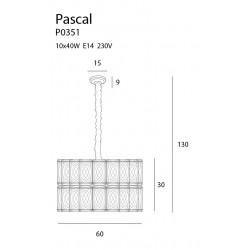 Pakabinamas šviestuvas PASCAL 60 cm - 3 - 853,46€