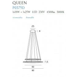 Pakabinamas šviestuvas QUEEN II CHROM, DIM - 2 - 952,29€