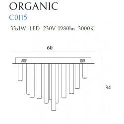 Plafonas ORGANIC 33x1 CHROM - 3 - 1009,04€
