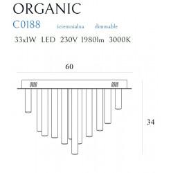 Plafonas ORGANIC 33x1 aukso - 4 - 1009,04€