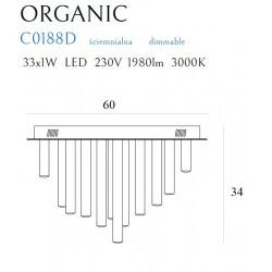Plafonas ORGANIC 33x1 aukso, DIM - 4 - 1009,04€