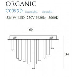 Plafonas ORGANIC 33x1 COPPER, DIM - 3 - 1037,65€