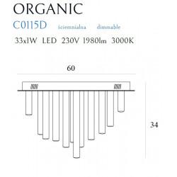 Plafonas ORGANIC 33x1 CHROM, DIM - 3 - 1037,65€