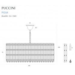 Pakabinamas šviestuvas PUCCINI 80cm - 5 - 1271,59€