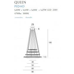 Pakabinamas šviestuvas QUEEN IV COPPER, DIM - 7 - 1391,81€