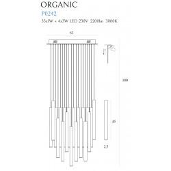 Pakabinamas šviestuvas ORGANIC 33x1 auksinė - 6 - 1416,23€