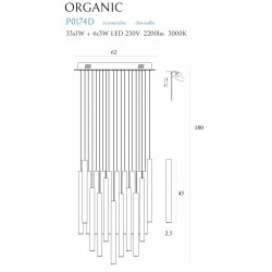 Pakabinamas šviestuvas ORGANIC 33x1 COPPER, DIM - 6 - 1465,07€