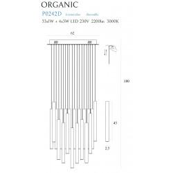 Pakabinamas šviestuvas ORGANIC 33x1 auksinė, DIM - 6 - 1465,07€