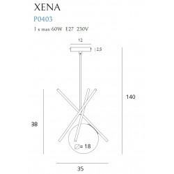 Pakabinamas šviestuvas XENA - 4 - 75,35€