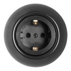 Schneider Electric Renova serijos elektros kištukinis lizdas juodas