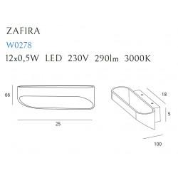 Sieninis šviestuvas ZAFIRA BLACK 6W - 2 - 79,06€