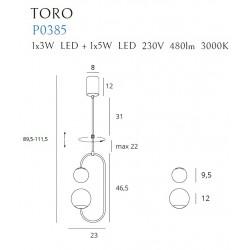 Pakabinamas šviestuvas TORO - 5 - 116,04€