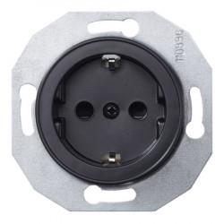 Schneider Electric Renova serijos elektros kištukinis lizdas juodas kt