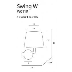 Sieninis šviestuvas SWING - 5 - 132,33€