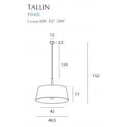 Pakabinamas šviestuvas TALLIN juodas - 3 - 139,30€