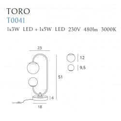 Stalinė lempa TORO - 6 - 162,55€