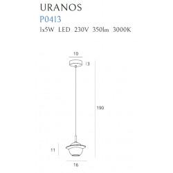 Pakabinamas šviestuvas URANOS baltas - 4 - 174,65€