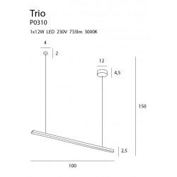 Pakabinamas šviestuvas TRIO 1 - 2 - 185,11€