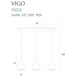 Pakabinamas šviestuvas VIGO III CHROM - 3 - 261,15€