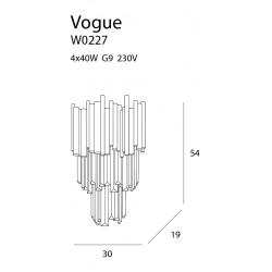 Sieninis šviestuvas VOGUE - 5 - 351,15€