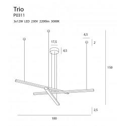 Pakabinamas šviestuvas TRIO 3 - 7 - 454,17€