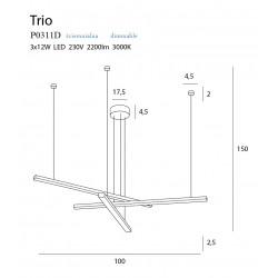 Pakabinamas šviestuvas TRIO 3, DIM - 7 - 454,17€