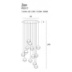 Pakabinamas šviestuvas ZEN 13 CHROM - 2 - 1611,57€