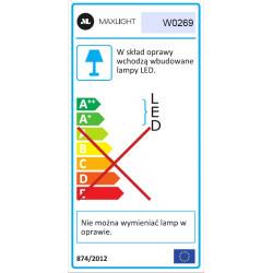 Sieninis šviestuvas ZOOM juodas, 3W LED - 6 - 180,00€