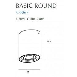Lubinis šviestuvas BASIC ROUND baltas - 3 - 21,62€