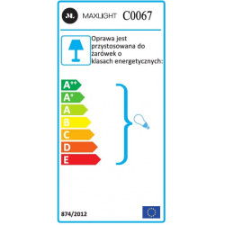 Lubinis šviestuvas BASIC ROUND baltas - 4 - 21,62€