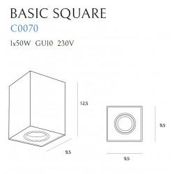 Lubinis šviestuvas BASIC SQUARE baltas - 5 - 28,14€