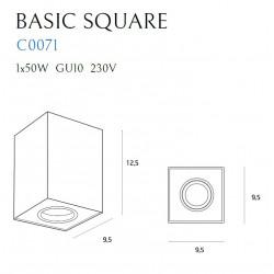 Lubinis šviestuvas BASIC SQUARE BLACK - 5 - 28,14€