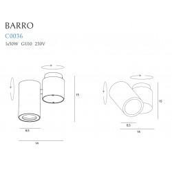 Lubinis šviestuvas BARRO I baltas - 3 - 41,62€