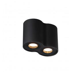 Lubinis šviestuvas BASIC ROUND juodas dvigubas - 1 - 49,30€